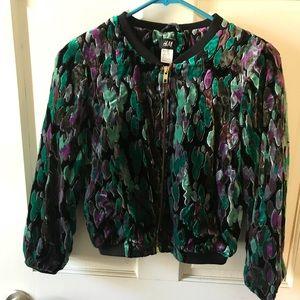 H&M Velvet Peacock jacket/blazer